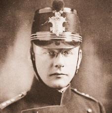 פון ויזל כקצין בצבא האוסטרו הונגרי
