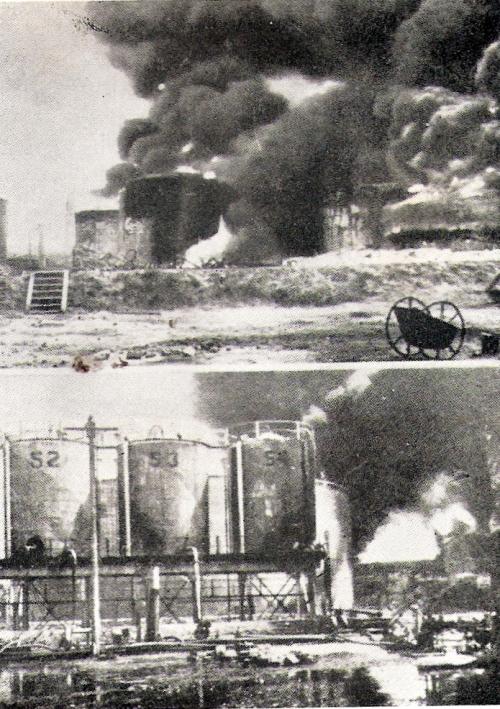 לוחמי לחי מעלים באש מתקני נפט במפרץ חיפה