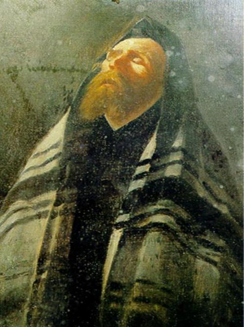 יהודי מתפלל ביום כיפור  סימון בוכבינדר 1896