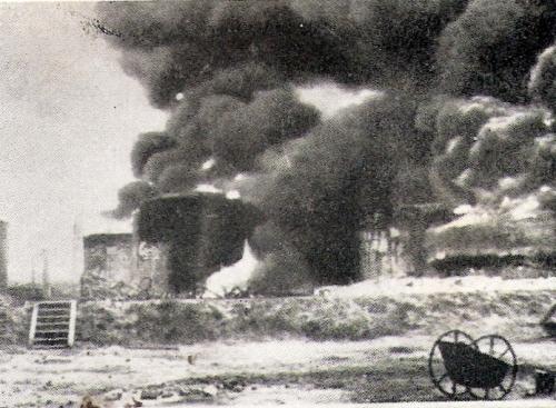 לחי מעלים באש את מתקני הנפט במפרץ חיפה