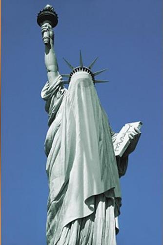 האם כך תראה ארצות הברית בשנת 2020?  פסל החרות עם רעלה.