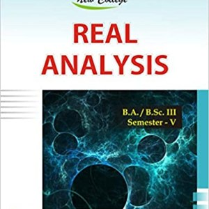 New College Real Analysis For B.A.B.Sc.III V-Sem by Jeevansons Publication