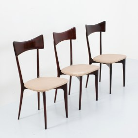 Set of three Dingingroom chairs by Ico en Luisa Parisi for Ariberto Colomo, Italy, 1950