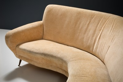 1 Sofa curved and 2 Lounge Chairs by I.S.A._Fabric and Brass_Italy_1960s5H0A4660_zeger van Olden_mid century_mid century modern_amsterdam_italian_scandinavian