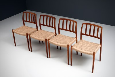 Dining Chairs by Niels Otto Moller_Teak and newly upholstered_Danish Corc_Denmark_1960s5H0A4291_zeger van Olden_mid century_mid century modern_amsterdam_italian_scandinavian