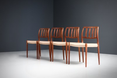 Dining Chairs by Niels Otto Moller_Teak and newly upholstered_Danish Corc_Denmark_1960s5H0A4297_zeger van Olden_mid century_mid century modern_amsterdam_italian_scandinavian
