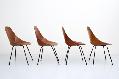 Dining Chairs 'Medea' by Vitorio Nobili for Fratelli Tagliabue_teak and metal_Italy_19555H0A9149_zeger van Olden_mid century_mid century modern_amsterdam_italian_scandinavian