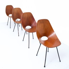 Dining Chairs 'Medea' by Vitorio Nobili for Fratelli Tagliabue_teak and metal_Italy_19555H0A9151_zeger van Olden_mid century_mid century modern_amsterdam_italian_scandinavian