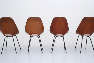 Dining Chairs 'Medea' by Vitorio Nobili for Fratelli Tagliabue_teak and metal_Italy_19555H0A9157_zeger van Olden_mid century_mid century modern_amsterdam_italian_scandinavian