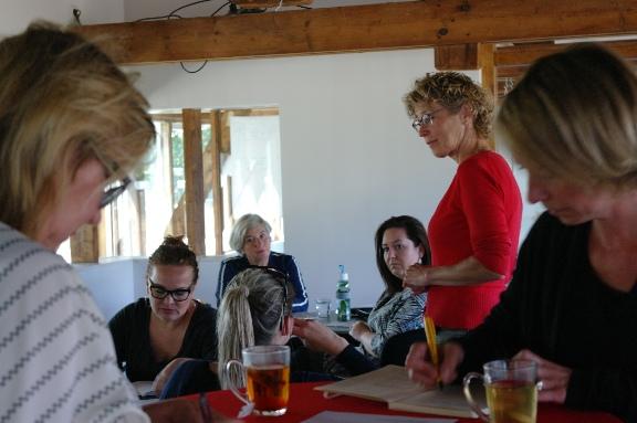 Enthousiaste ondernemers in workshop