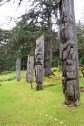 Haida Totem Poles at the Unesco Heritage site in Sgang Gwaay