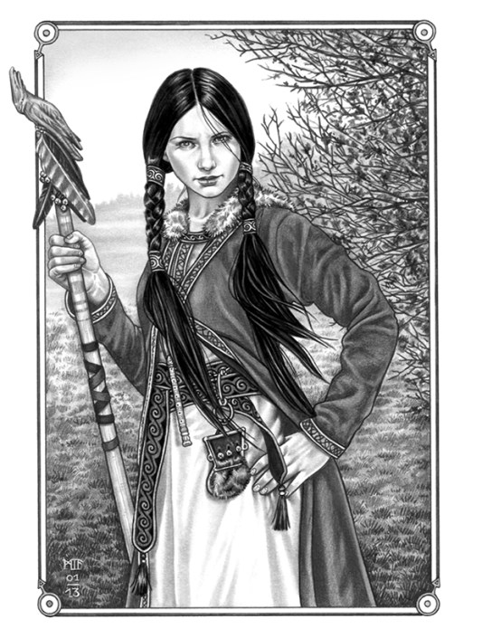 """Silja Avessa"", Illustration zu ""Friedlos"", Blei- & Filzstift, 2013"