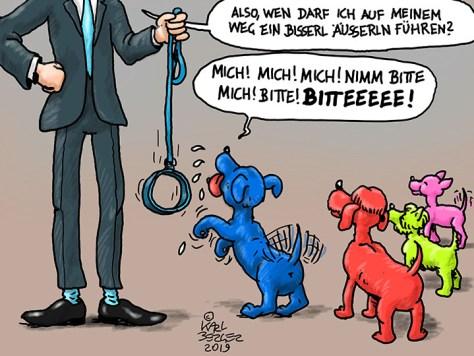 Herl und Hund.