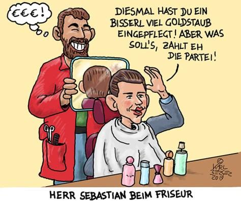 Warum Sebastian Kurz 600 Euro beim Friseur zahlt.