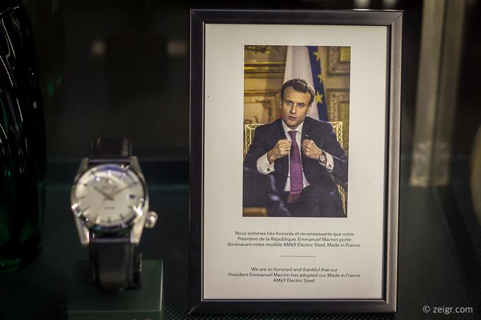 Der französische Präsident trägt March LA.B