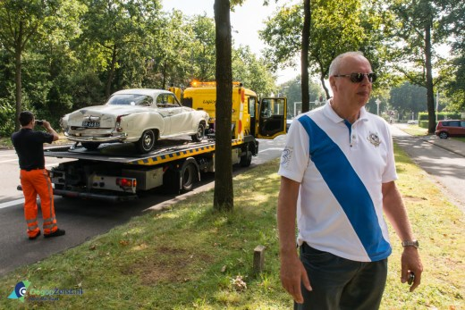 Aanrijding op de Utrechtseweg met klassieke auto