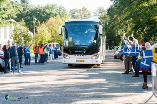 Uitgezwaaid door alle hulpverleners en vrijwilligers van de gemeente Zeist