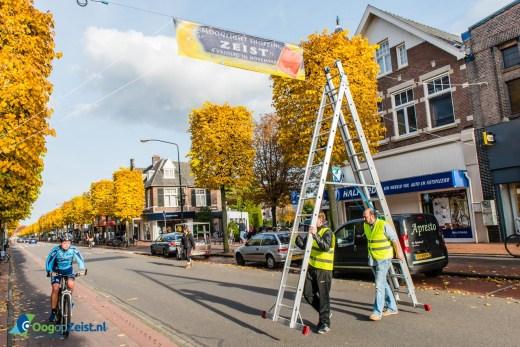 Moonlightshopping banners opgehangen