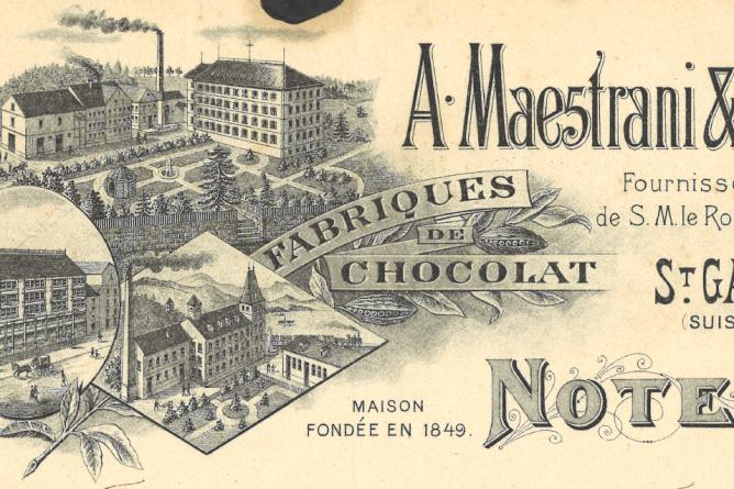 Schokoladenfabrik Maestrani in St.Gallen, 1907