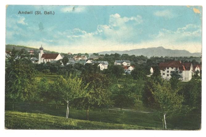 Andwil (Ansichtskarte, koloriert)