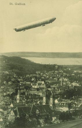 Zeppelin über St.Gallen, vor 1911