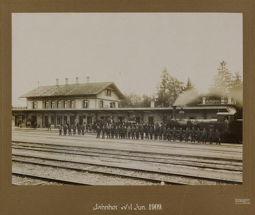 Bahnhof Wil 1909