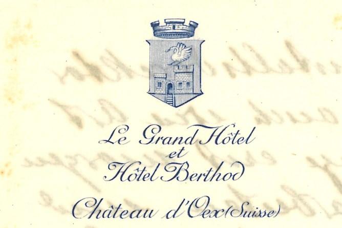 Briefpapier Grand Hotel