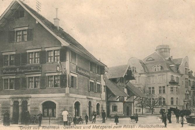 Metzgerei und Schulhaus in Rheineck