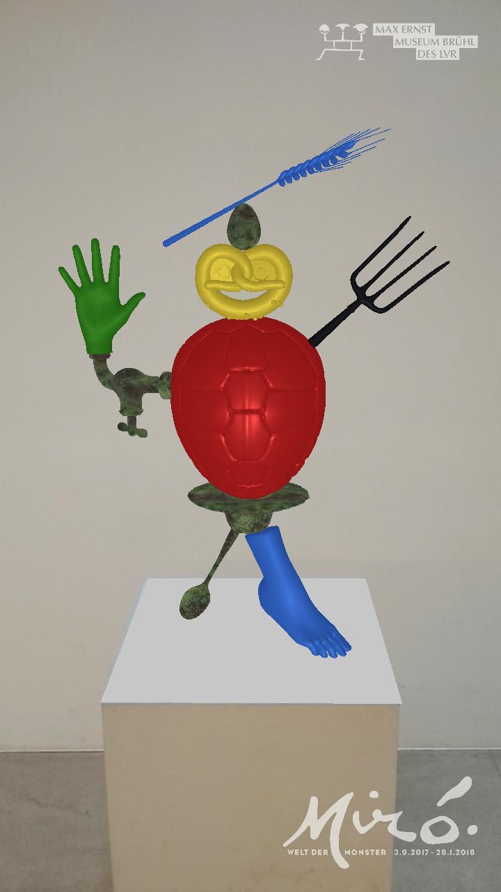 Hologramme dienen als pädagogischer Anreiz in der Ausstellung