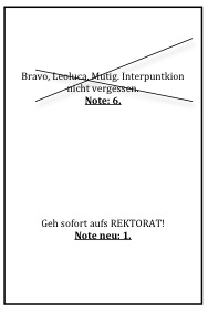 Notenblatt