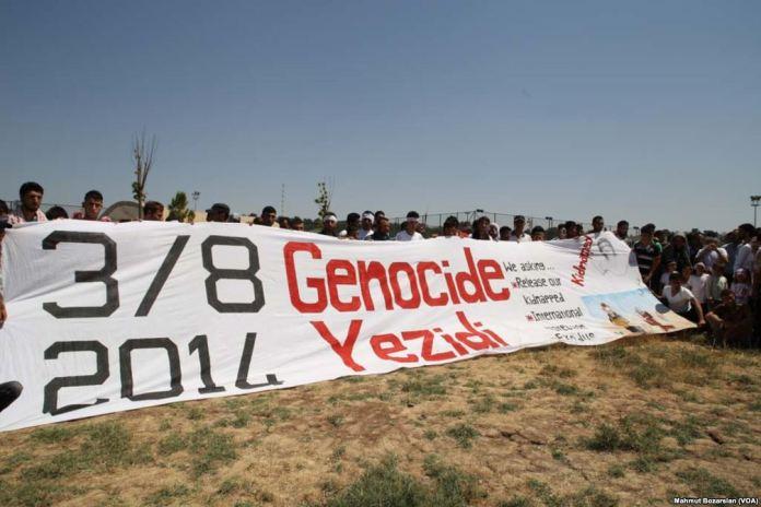 Erinnerung an den Völkermord des IS an den Eziden vom August 2014