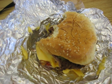 A Five Guys Burger