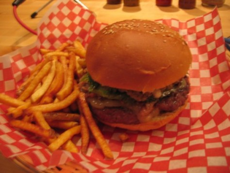 The All-Dressed Burger at Le Jolifou