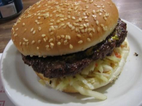 A Charm Burger at Restaurant Tous les Jours