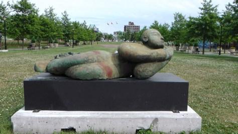 Dormeur à la fleur by Robert Lorrain