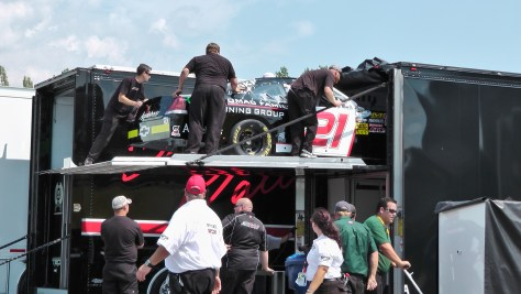 Unloading at The Napa Auto Parts 200 presented by Dodge