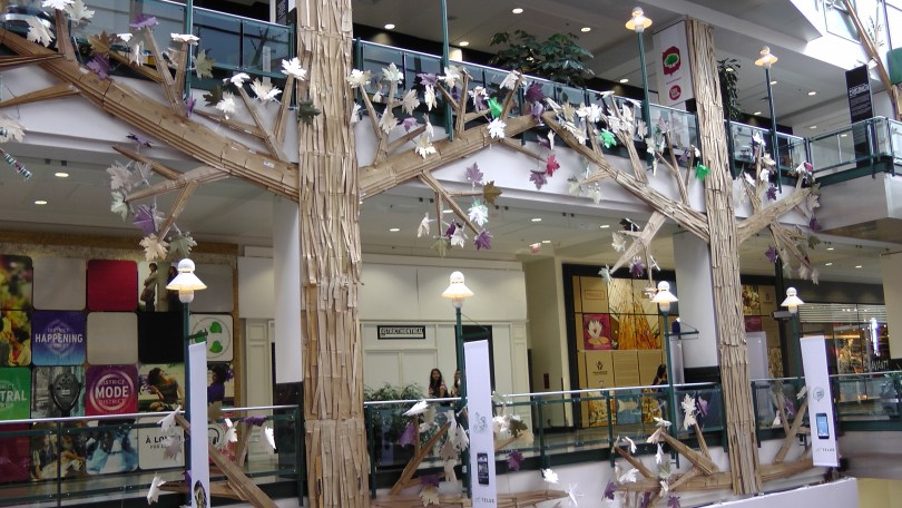 """Generic photo of """"Fragile"""" by Roadsworth and Brian Armstrong at the Eaton Centre"""