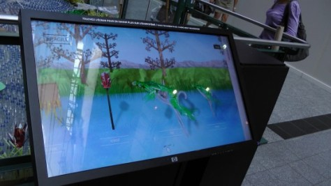 """The massive touch screen thing used to explain an ecosystem almost as far removed from The Eaton Centre as the moon. It gets bonus points for allowing the organizers to use the words """"interactivity"""" and """"multi-media."""""""