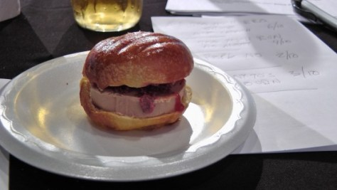 From Pintxo: Foie gras burger