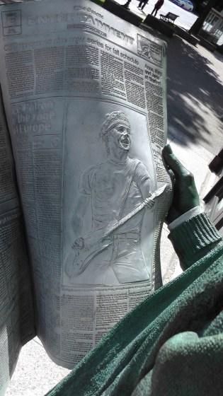 Detail of Catching Up by J. Seward Johnson