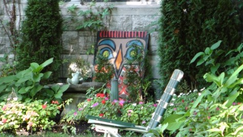 Painting in a garden on Rosemont ave.