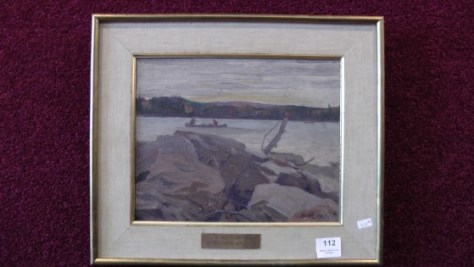 An oil painting on panel by J.W. Beatty
