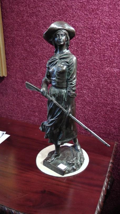 A bronze sculpture by Louis-Philippe Hébert