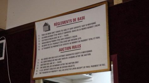The Auction Rules at Patrick Blaizel's La Maison des Encans de Montréal