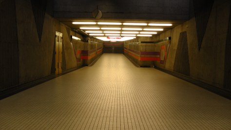 The tunnel linking the north and south entrances.