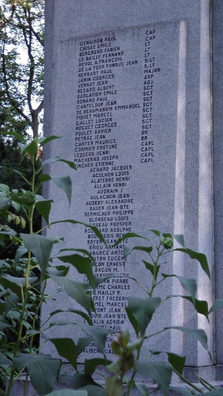Detail of the Monument Aux morts Francais de Montreal et aux Volontaires Canadiens de L'armee Francaise.