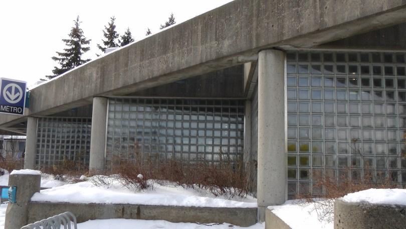 Glass bricks on the southern entrance.