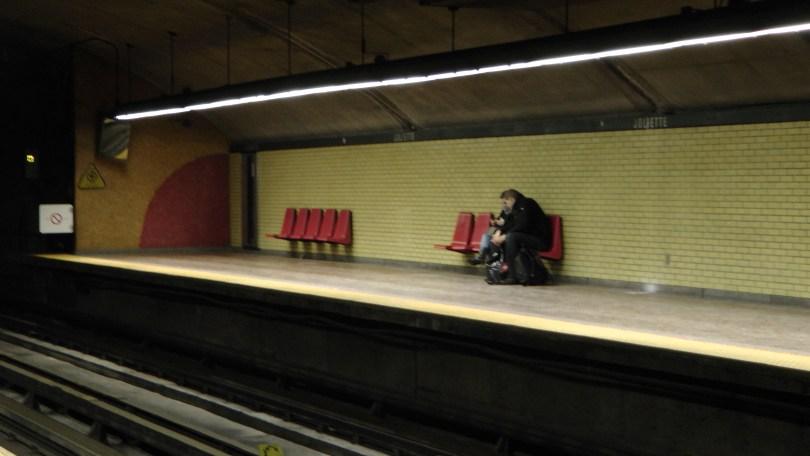 A platform at the Métro Joliette.