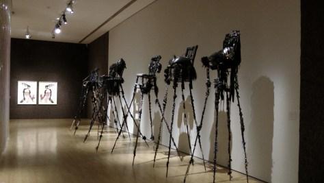 Installation shot from Wangechi Mutu's exhibit at the Musée d'art contemporain de Montréal.