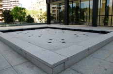The fountain on the Westmount Square Plaza